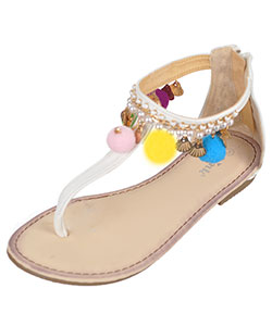 "Link Girls' ""Shell Chic"" Sandals (Youth Sizes 13 – 3) - CookiesKids.com"