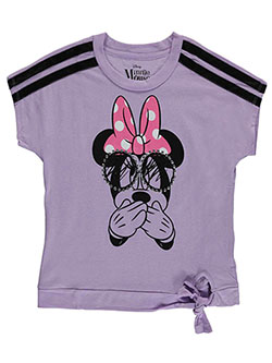 "Minnie Mouse Big Girls' ""Shy Minnie"" T-Shirt by Disney in Lavender - T-Shirts"