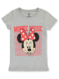 Minnie Mouse Girls' Smile T-Shirt by Disney in Gray, Sizes 4-6X