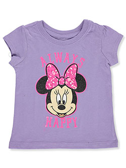 Minnie Mouse Girls' Always Happy T-Shirt by Disney in Lavender/multi - T-Shirts