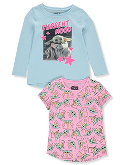 Baby Yoda Girls' 2-Pack L/S & S/S T-Shirts by Star Wars in Multi - $11.99