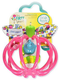 Grab Apple Teether by The First Years in fuchsia and green