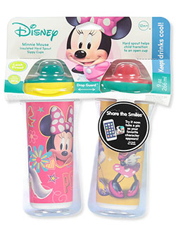 Minnie Mouse 2-Pack Insulated Sippy Cups by Disney in Pink multi, Infants