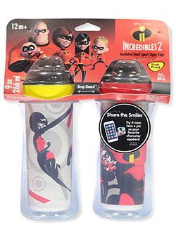 The Incredibles 2-Pack Insulated Sippy Cups by Disney in Red multi, Infants