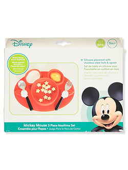 Mickey Mouse 3-Piece Mealtime Set by Disney in Red multi, Infants