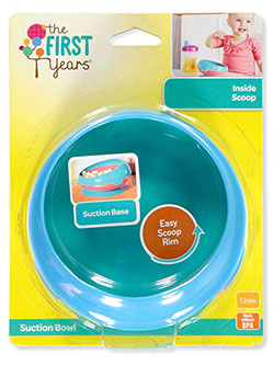 Inside Scoop Suction Bowl by The First Years in blue/multi and fuchsia/purple