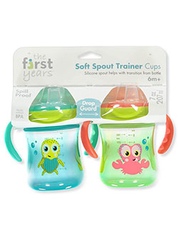 Soft Spout 2-Pack Trainer Cups by The First Years in Blue multi