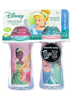 Princess 2-Pack Insulated Hard Spout Sipper Cups by Disney in Multi, Infants