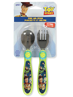 2-Piece Fork and Spoon Set by Disney Toy Story in Multi