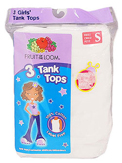 Fruit of the Loom 3-Pack Girls' Tank Tops (Sizes S – XL) - CookiesKids.com