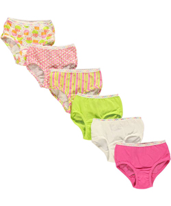 Fruit of the Loom Little Girls' Toddler 6 Briefs (Sizes 2T - 4T) - CookiesKids.com