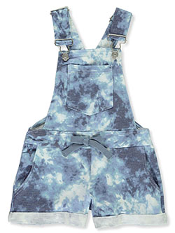 Girls' Comfy Camo Shortalls by Full Circle in Blue - Overalls & Jumpers