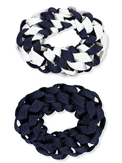2-Pack Elastic Ponytail Holders by French Toast in Navy/white