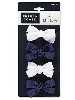 4-Pack Mini Bow Barrettes by French Toast in Navy/white