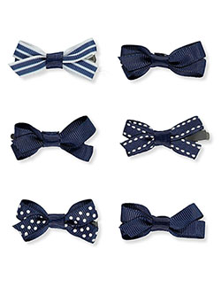 6-Pack Mini Hair Bows by French Toast in Multi