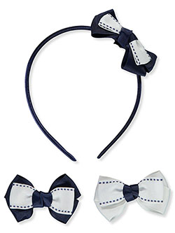 Texture Bows 3-Piece Hair Accessories Set by French Toast in Multi