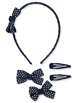 Polka Dot Bow 5-Piece Hair Accessories Set by French Toast in Multi