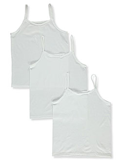 Girls' 3-Pack Camisoles by Fruit Of The Loom in cream/multi and white