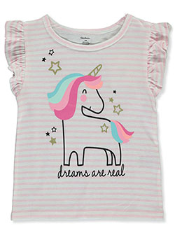 Dreams are Real Glitter Unicorn T-Shirt by Gerber in Pink/white, Infants