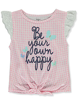 Baby Girls' Be Your Own Happy T-Shirt by Gerber in Pink - Fashion Tops