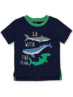 Baby Boys' Go with the Flow Sharks T-Shirt by Gerber in Navy, Infants