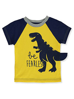 Baby Boys' Be Fearless Dinosaur T-Shirt by Gerber in Yellow/navy, Infants