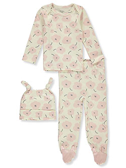 Abstract Floral 3-Piece Layette Set by Gerber in Ivory/multi