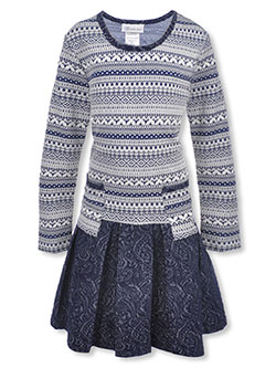 "Bonnie Jean Big Girls' Plus ""Pia"" Dress (Sizes 14.5 – 20.5) - CookiesKids.com"