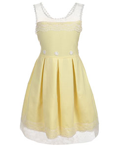 "Bonnie Jean Big Girls' Plus Size ""Sunray"" Dress (Sizes 14.5 – 20.5) - CookiesKids.com"