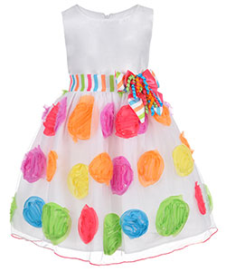 "Bonnie Jean Little Girls' Toddler ""Birthday Confetti"" Dress (Sizes 2T – 4T) - CookiesKids.com"
