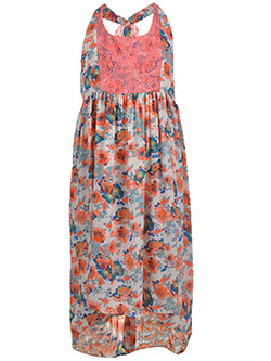 "Bonnie Jean Big Girls' Plus Size ""Ruffled Lace"" Hi-Low Dress (Sizes 14.5 – 20.5) - CookiesKids.com"