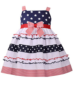 "Bonnie Jean Little Girls' Toddler ""Stars & Stripes"" Dress (Sizes 2T – 4T) - CookiesKids.com"