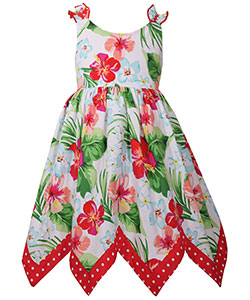 "Bonnie Jean Little Girls' ""Tropical Sharkbite"" Dress (Sizes 4 – 6X) - CookiesKids.com"