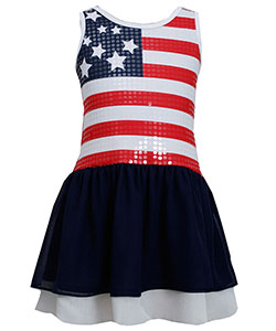 "Bonnie Jean Big Girls' ""Sequin Patriotic"" Dress (Sizes 7 – 16) - CookiesKids.com"