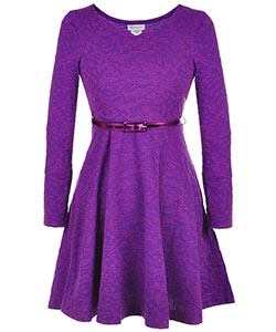 Bonnie Jean Big Girls' Plus Size Belted Dress (Sizes 14.5 – 20.5) - CookiesKids.com