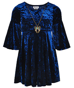 Bonnie Jean Big Girls' Dress with Necklace (Sizes 7 – 16) - CookiesKids.com
