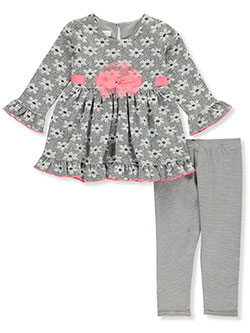 Bonnie Jean Girls Pink Pop 2-Piece Leggings Set Outfit