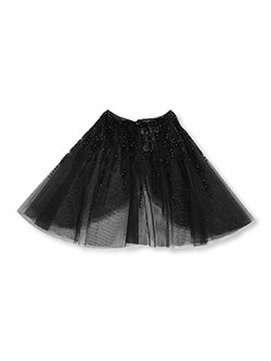 Girls' Beaded Tulle Shrug Cape by Bonnie Jean in Black