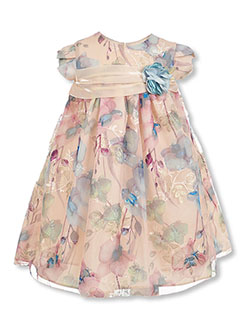 Girls' Watercolor Floral Dress by Bonnie Jean in Multi