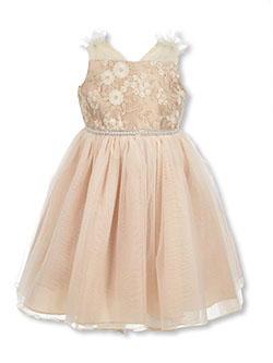 Girls' Delicate Floral Dress by Bonnie Jean in Ivory