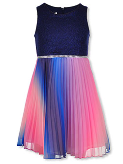 Girls' Ombre Skirt Dress by Bonnie Jean in Navy