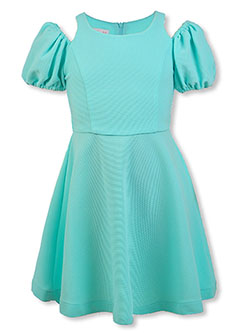 Girls' Cold-Shoulder Dress by Bonnie Jean in Mint