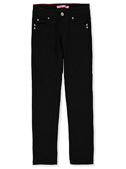 Girls' Slim Fit Twill Pants by Gogo Star in Black - $14.99