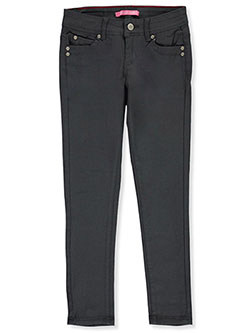 Girls' Slim Fit Twill Pants by Gogo Star in Charcoal - $14.99