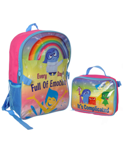 "Inside Out ""It's Complicated"" Backpack with Lunchbox - CookiesKids.com"