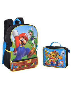 "Super Mario Brothers ""Double Jump"" Backpack with Lunchbox - CookiesKids.com"
