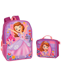 "Disney Princess ""Sofia the First"" Backpack with Lunchbox - CookiesKids.com"