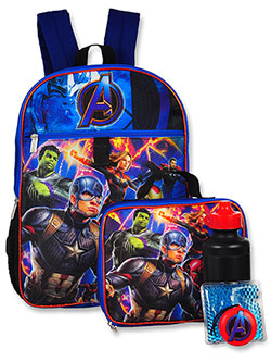 Marvel Avengers 5-Piece Backpack Set by Avengers in Navy