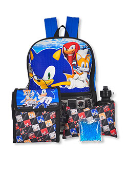 5-Piece Backpack & Accessories Set by Sonic the Hedgehog in Multi