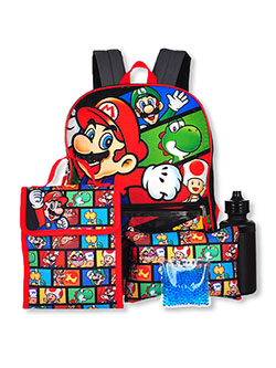 5-Piece Backpack & Accessories Set by Super Mario Bros. in Multi